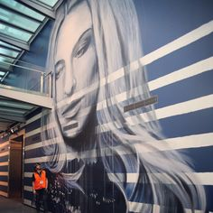 Rone painting installation artwork for the Jean Paul Gaultier at the NGV