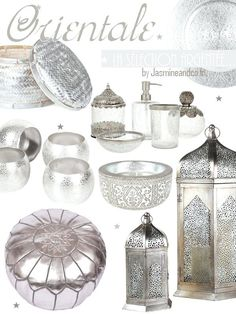 décoration orientale marocaine argent - but a brassy/gold version of everything! Morrocan Decor, Moroccan Bedroom, Moroccan Interiors, Moroccan Design, Moroccan Style, Oriental Decor, Bohemian Decor, Boho, My New Room