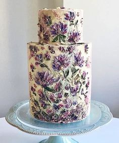20 Gorgeous Buttercream Painted Cakes Looking for buttercream painted cake inspiration? Check out buttercream painted cake inspiration from Find Your Cake Inspiration Pretty Wedding Cakes, Pretty Cakes, Beautiful Cakes, Amazing Cakes, Bolo Floral, Floral Cake, Flores Buttercream, Naked Cakes, Wedding Cake Inspiration