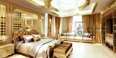 Luxurious dream home master bedroom suite seating mansion real estate www.facebook.com/VaLuxuryHouses  Aristo Castle
