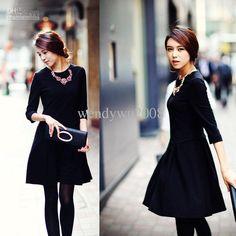 businesswoman Dress Long Sleeve Dress