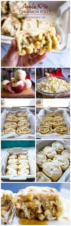 Apple Pie Cinnamon Rolls with Cream Cheese Icing - Gimme Delicious