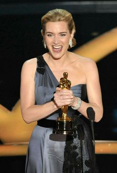 """Actress Kate Winslet speaks on stage after winning the Best Actress award for """"The Reader"""" during the Annual Academy Awards held at Kodak Theatre on February 2009 in Los Angeles, California. Anthony Hopkins, Academy Award Winners, Academy Awards, Kelly Rowland, Julie Andrews, Robert Redford, Oscar Party, Jeremy Renner, Kate Winslet Oscar"""