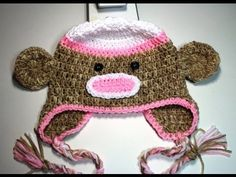 #Crochet sock monkey beanie - Video 1
