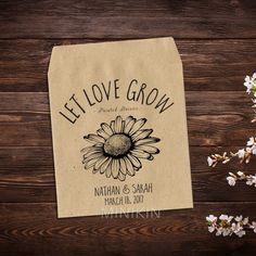 Rustic Wedding Favor Wildflower Seed Packets – W-A164