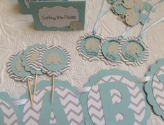 Mild Blue and Gray Chevron Elephant Child Bathe Ornament Set-Package deal-Kits-Welcome Child Banner-Cupcake Toppers-Customized Favour Tags-Confetti - http://www.babyshower-decorations.com/mild-blue-and-gray-chevron-elephant-child-bathe-ornament-set-package-deal-kits-welcome-child-banner-cupcake-toppers-customized-favour-tags-confetti.html