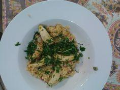 Prawn & Chorizo Risotto (with parsley dressing & lemon wedges)