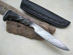 railroad spike forged knife