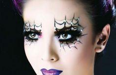 halloween schminken ideen spinne