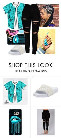 """""""big bank~KODAK BLACK"""" by juske ❤ liked on Polyvore featuring Puma and Casetify"""