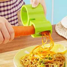 Vegetable Spiralizer - The spiral chopping machine is a Japanese invention designed to generate thin strips of vegetables through a process similar to the operation of a sharpener,
