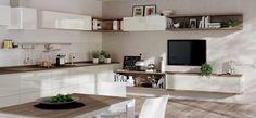 Cucina e soggiorno open space - Soluzioni innovative per la casa
