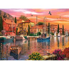 Largest Jigsaw Puzzle 32000 | ... > Europe > Assorted Europe >Mediterranean Harbor 1500 Piece Puzzle