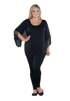 Sealed With A Kiss Designs Plus Size Lindsey Fringe Top Sealed with a Kiss Designs Plus Size. $29.99