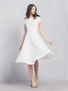 The PERFECT white dress!! Reformation Caribou Dress