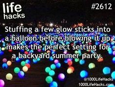1000 life hacks is here to help you with the simple problems in life. Posting Life hacks daily to help you get through life slightly easier than the rest! Simple Life Hacks, Useful Life Hacks, Summer Life Hacks, 1000 Lifehacks, Def Not, Festa Party, Glow Party, Glow Sticks, Summer Fun