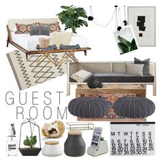 """""""SF Girl by Bay Guest Room Moodboard"""" by rrrrrachel ❤ liked on Polyvore"""