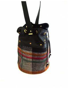 Bolso saco tartan colorful