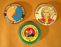 Vintage 1970's UNDERGROUND COMIX Artists Pinback BUTTONS Lot by Superjunk5000 on Etsy