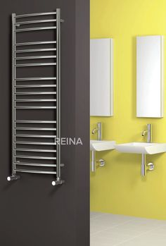 REINA EOS STAINLESS STEEL HEATED TOWEL RAILS