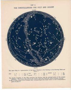 Image result for vintage star map
