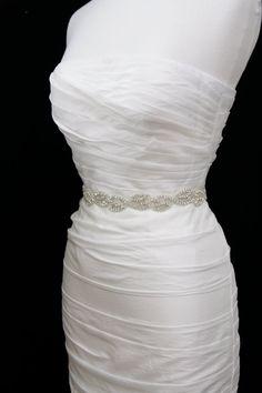 Couture bridal sash Glamboyant Petite by GlamHouse on Etsy