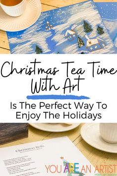Christmas Tea Time With Art Is The Perfect Way To Enjoy The Holidays - by Courtney Messick Christmas art lessons with Nana! #hymn #ChristmasCarol #teatime Stem Projects For Kids, Stem For Kids, Art For Kids, Christmas Tea, Christmas Bells, Christmas Art Projects, Art Lessons, Tea Time, Homeschool Curriculum