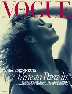 Vanessa Paradis by David Sims on the cover of Vogue Paris December 2015/January 2016