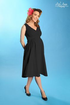 Preggers Maternity Dress in Black | Pinup Girl Clothing
