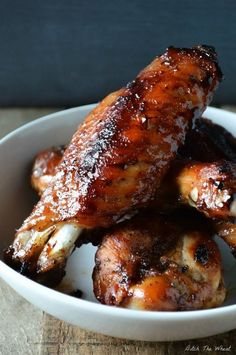 Teriyaki Turkey Wings -- If you're bored or tired of typical buffalo wings, here is a delightful twist on traditional wings. My Teriyaki Turkey Wings will make your mouth water. : Ditch The Wheat Healthy Turkey Wings Recipe, Bake Turkey Wings Recipe, Baked Turkey Wings, Turkey Recipes, Crockpot Turkey Wings, Turkey Drumsticks, Real Food Recipes, Cooking Recipes, Healthy Recipes