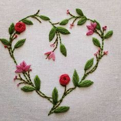 Grand Sewing Embroidery Designs At Home Ideas. Beauteous Finished Sewing Embroidery Designs At Home Ideas. Embroidery Designs, Crewel Embroidery Kits, Silk Ribbon Embroidery, Cross Stitch Embroidery, Embroidery Tattoo, Embroidery Hearts, Embroidery Flowers Pattern, Simple Embroidery, Machine Embroidery Thread