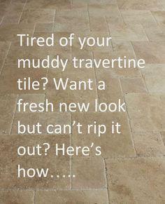 Whitewashed Tumbled Travertine Tile Backsplash