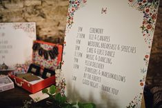 Kitty McCall Wedding Stationery Order of The Day Sign - Samuel Docker Photography | Rustic Cripps Stone Barn Cheltenham Wedding | Hey Style styling & Props | Meringue Girls Treats | Jesús Peiró Wedding Dress from Miss Bush | Baz and Fred Pizza's