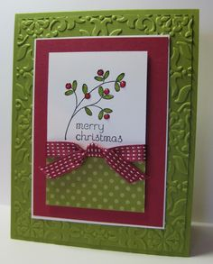Easy Events SU stamp set, Christmas card, Vintage Wallpaper EF, a case from Jennifer Frost