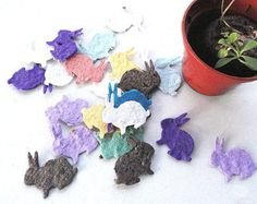 Seed Paper Butterflies diy wedding favors place by NatureFavors
