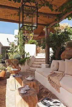 Terrasse Design, Patio Design, House Design, Rustic Patio, Mediterranean Style Homes, Mediterranean Architecture, Mediterranean Outdoor Decor, Mediterranean Garden, Backyard Makeover
