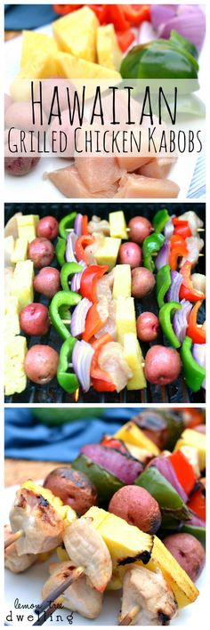 Hawaiian Grilled Chicken Kabobs with Honey Ginger Teriyaki Sauce  #mypicknsave #ad