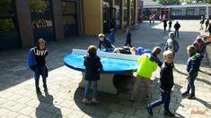 Pingpongtafel Rond Blauw bij CBS Dr. Picardt in Coevorden
