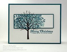 Quick & Cute Sheltering-Tree for Control Freaks Blog Tour November 2015 Holiday projects by Dawn Olchefske #dostamping #stampinup