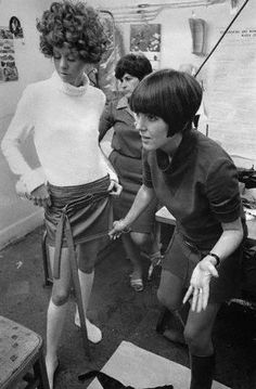 sassoon cut • Mary Quant • Swinging Sixties • Miniskirts pictures years 60's images gallery 1960