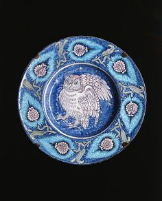 William de Morgan Dish by Birmingham Museum and Art Gallery on Flickr.