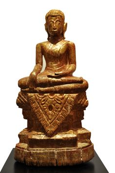 Sitting Buddha. Thailand (Lana), 18th century, made of teak wood. For more information about this and other amazing Asian/Buddhist antique products, please visit our website: www.sat-nam-art.com Sitting Buddha, Teak Wood, 18th Century, Thailand, Asian, Statue, Website, Antiques, Amazing