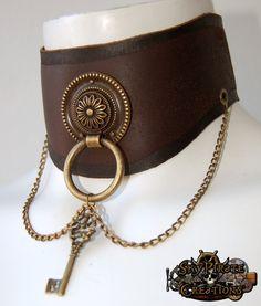 Steampunk Lucy nr. 2 Leather Neck Corset Chocker Posture Collar Halskorsett