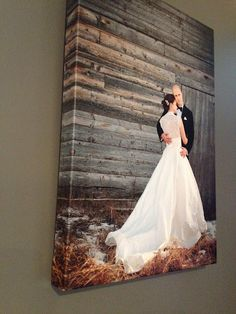 Get some of our favorite wedding images printed on canvases for our future home