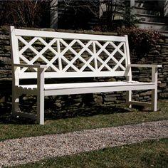 archies island- many colors, trellis garden bench