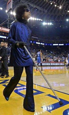 Prince • 2013-2016 AOA—PHASE 1—PHASE 2—Piano & Microphone Eras - Prince at The Warriors Game Oracle Arena March 3 2016