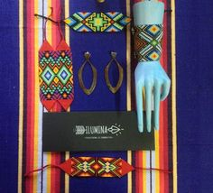 Ilumina Designs medium and large protection cuffs. Each piece carefully connected by the women of the Kamsa tribe. Get yours at www.myilumina.com #ayahuasca #kasma #beads #tribal #Colombian #handcrafted #protection