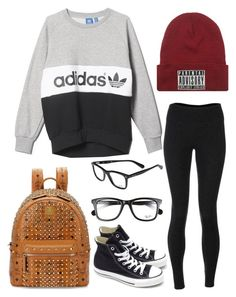 """Untitled #143"" by rayame ❤ liked on Polyvore featuring adidas, Solow, Converse, MCM and Ray-Ban"