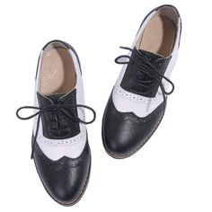 Brogue Patent Leather Flats