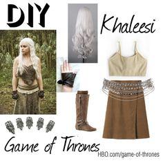 """Halloween Costume Khaleesi"" by violent-moon on Polyvore Khaleesi Halloween Costume, Dyi Costume, Got Costumes, Hallowen Costume, Costume Ideas, Cosplay Ideas, Fall Halloween, Halloween Party, Halloween Ideas"